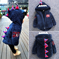 New Cute Dinosaur Baby Girls Coat Hooded Autumn Winter Warm Kids Jacket Outerwear Children Clothing Tops Boys Coats GH300