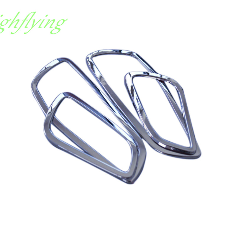 Abs chrome door inner handle bowls cover trim 4pcs for - 2013 ford escape interior door handle ...