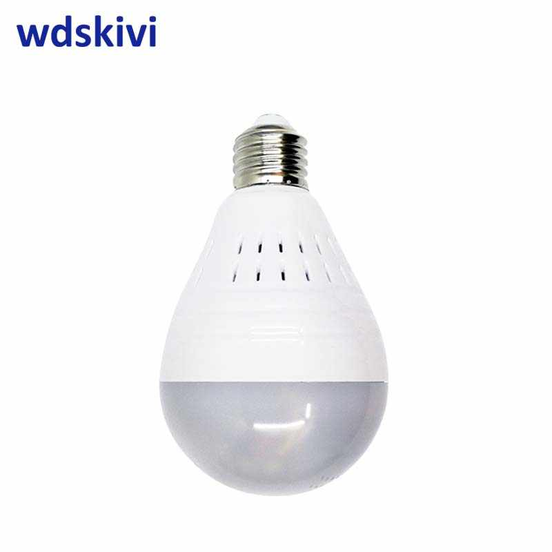 wdskivi Panoramic 360 VR 960P HD IP Camera Smart LED Lights Starlight night vision Bulb Home Security wifi wireless Camera
