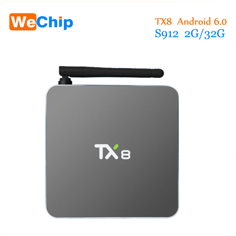2016 TX8 TV Box Android 6 0 2G 32G Amlogic S912 Octa core Android 6 0