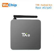 2016 TX8 TV Box Android 6.0 2G 32G Amlogic S912 Octa core Android 6.0 Set top box HDMI H.265 WIFI Media Player Smart tv boîte