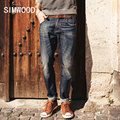 SIMWOOD Brand 2016 New autumn winter  fashion jeans men causal denim pants  long  trousers slim fit   SJ6038