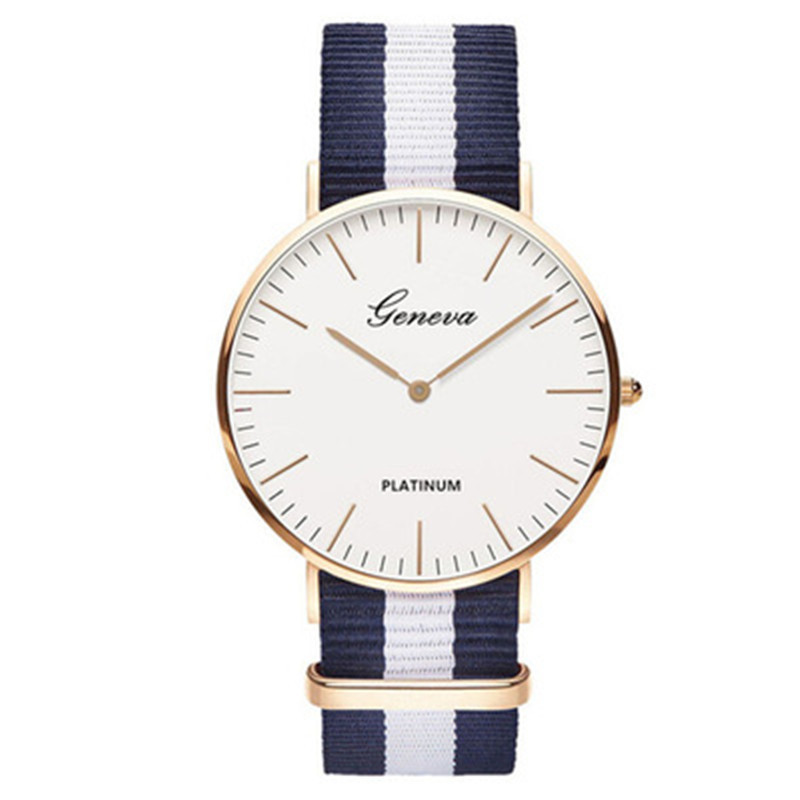 Classic Hot Sale Nylon Strap Style Quartz Women Watch Top Brand Men Watches Fashion Casual Fashion Lovers Watch Couple Watch