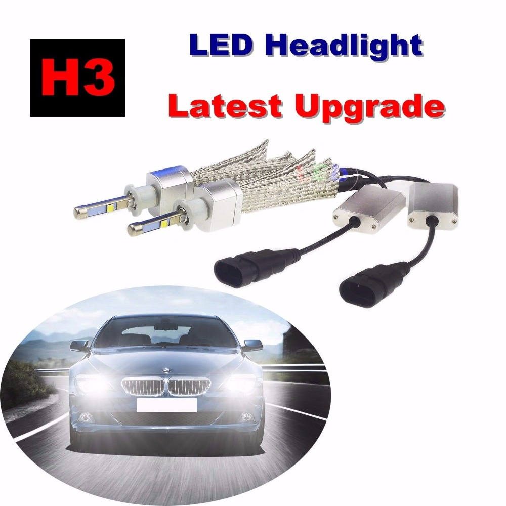 Free Shipping Auto H3 80W Car LED Headlight Conversion Kit 6000K White Bulb CREE XHP50 Chips LED Headlamp Light дефлектор auto h k gt 36964