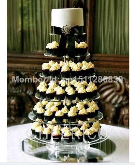 Event feestartikelen/Luxe verwijderbare 6 acryl wedding cake toren van verjaardagstaart elegant versiering tier decoratie