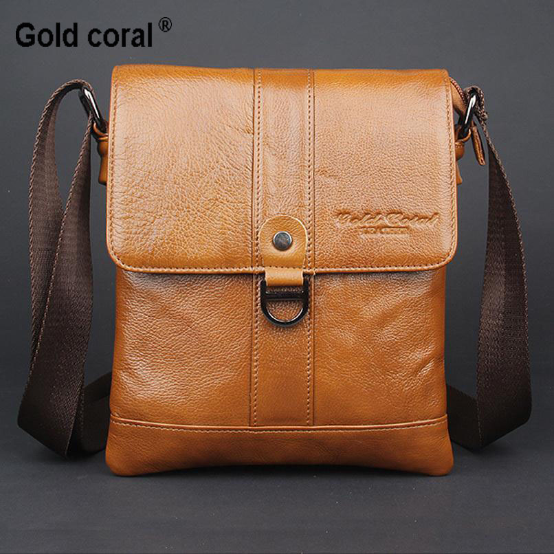 New arrived Natural Genuine leather men's messenger bags famous brand men shoulder bags Fashion casual crossbody bags 2016 new fashion men s messenger bags 100% genuine leather shoulder bags famous brand first layer cowhide crossbody bags