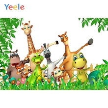цены на Yeele Vinyl  Safari Happy Animals Forest Children Birthday Party Photography Background Baby Photographic Backdrop Photo Studio  в интернет-магазинах