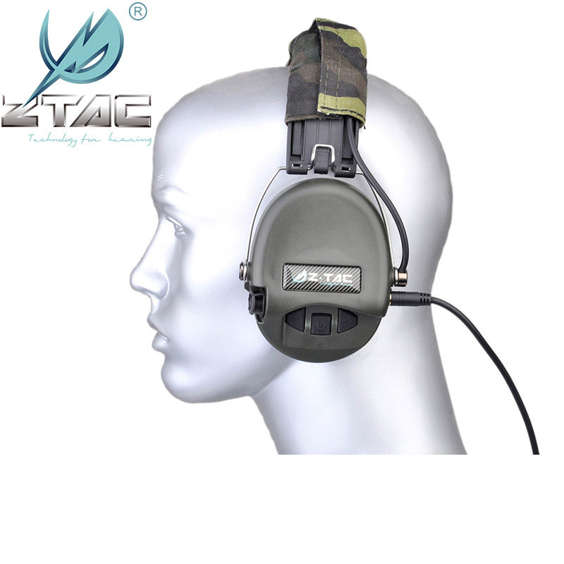 Z Tac Sordin IPSC Tactical Headset Pickup Noise Reduction Hunting Headphones 3 5 MM Jack Airsoft Tactical Headset IPSC Z037 in Tactical Headsets Accessories from Sports Entertainment
