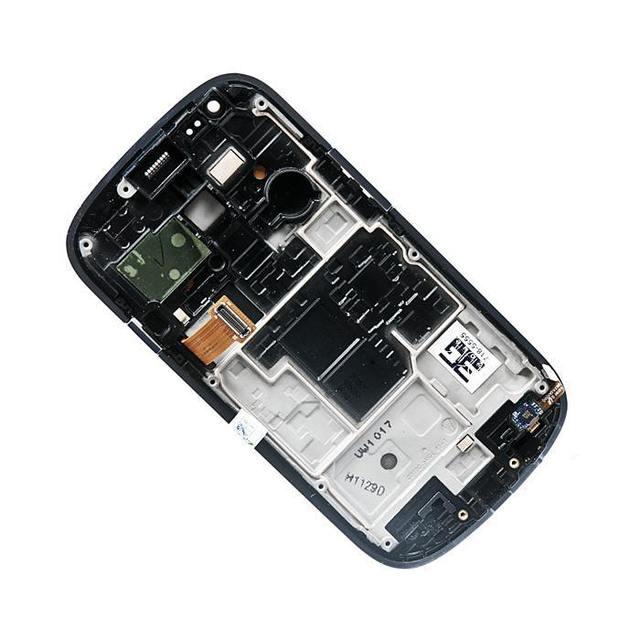 Exibir montagem com tela sensível ao toque e painel frontal para samsung para galaxy s3 mini gt-i8190, Pebble Azul AAA