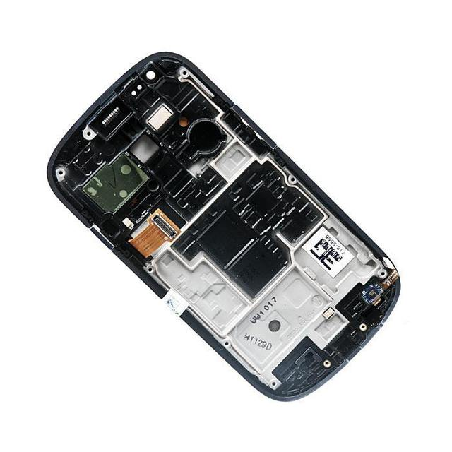 display assembly with touchscreen and front panel for Samsung for Galaxy S3 mini GT-I8190 , Pebble Blue AAA