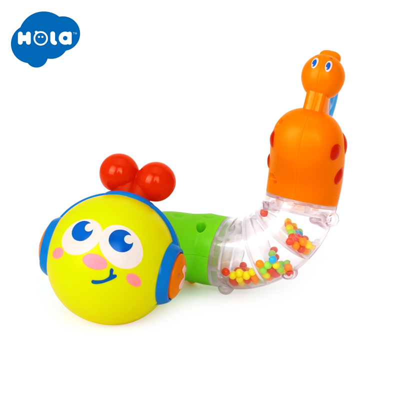 HOLA 917 Baby Toys Musical Twisting Worm Rattle Toy Brinquedos Chocalho Kids Early Educational Toys For Children Xmas Gift