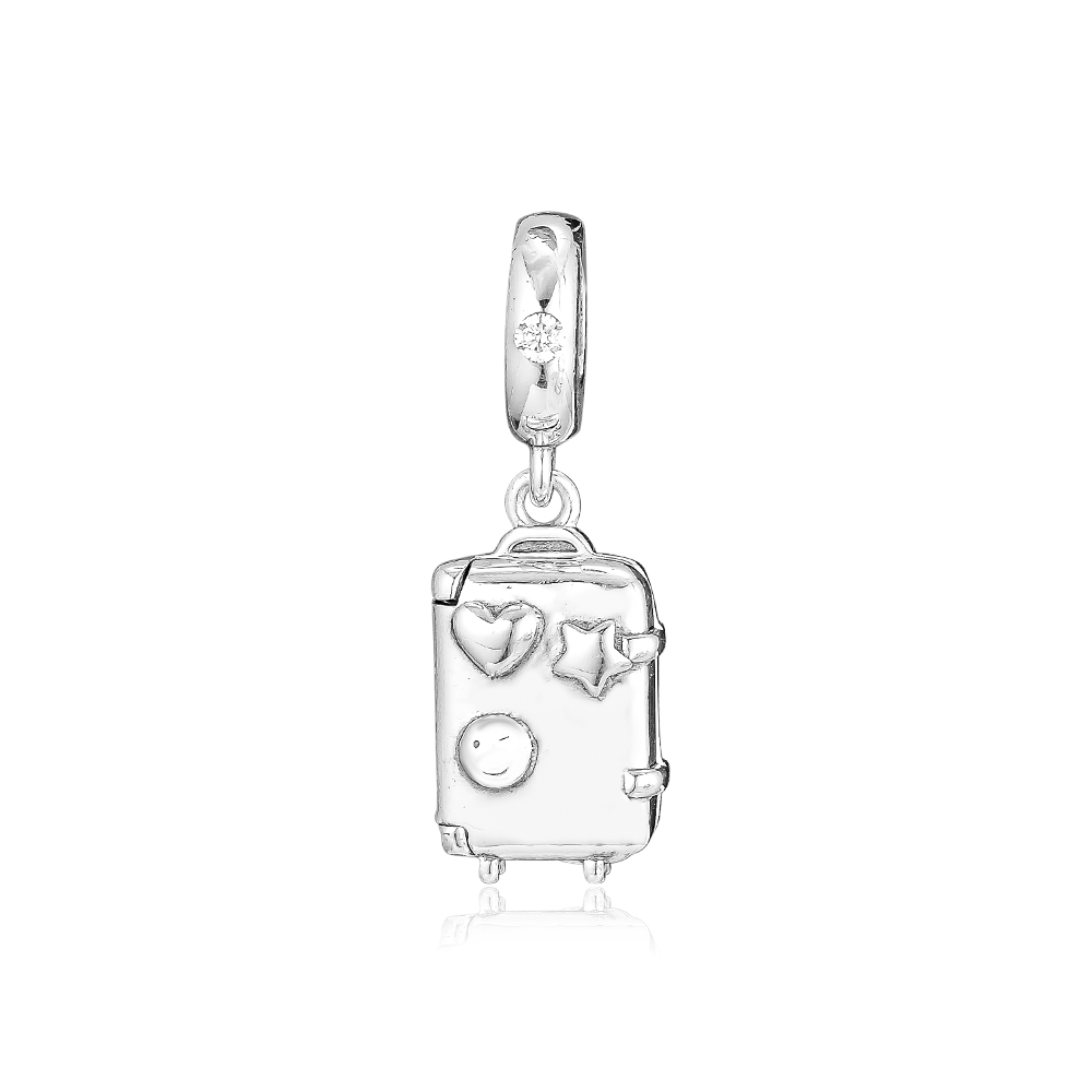 CKK Beads Suitcase Hanging Charms 925 Sterling Silver Fits Charm Bracelets Beads for Jewelry Making kralen perles boncukCKK Beads Suitcase Hanging Charms 925 Sterling Silver Fits Charm Bracelets Beads for Jewelry Making kralen perles boncuk