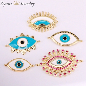 Image 4 - 30PCS, Mix Random, Enamel Connector Beads, Round/ Star/Lip/Hand/Eye shape, Enamel Eye Beads, Beads for Connectors, Diy Supplies