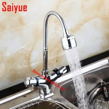 купить Solid Brass Kitchen thermostatic  Mixer Cold and Hot Kitchen sink faucet Tap Single Hole Water Tap torneira cozinha по цене 4558.53 рублей