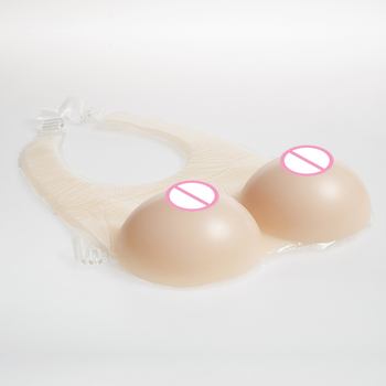 Skin Breast Forms 2800g/pair Realistic Fake Boobs Conjoined Style Crossdresser Silicone Breasts Transsexual Artificial Tits