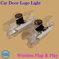 OCSION 2X LED Car Door Logo Projector Laser Light For Toyota Highlander Alphard VENZA Sienna Wireless