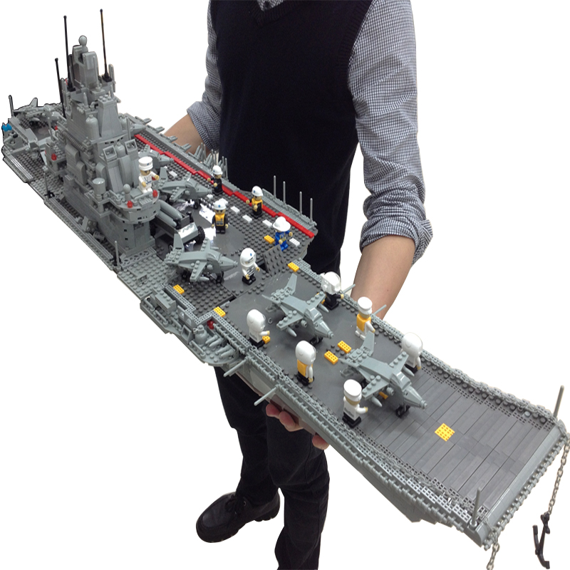 Banbao 8419 Military Series Aircraft Carrier 3016 pcs Plastic Building Block Sets Educational DIY Bricks Toys for children