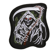 Custom Embroidered Patch Iron-On/Sew On, Biker Punk Iron on Jackets Jeans Embroidery Factory