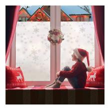 Multi-sizes Snowflake Decorative Window Film, Winter Wonderland Holiday Privacy Clings Decal for Home