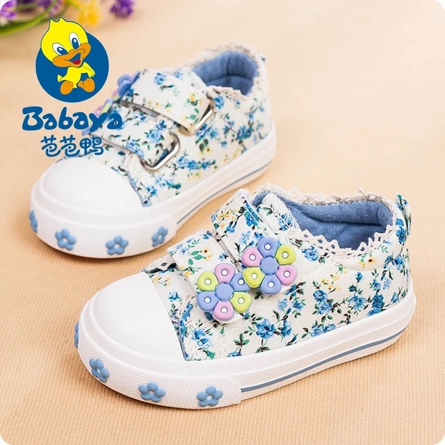2016 BABAYA design Spring floral cotton tenis infant canvas toddle fashion sneakers girls brand baby  first walkers casual shoes