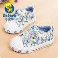 2016 diseño BABAYA Primavera floral algodón tenis infantil toddle lienzo zapatillas de deporte de moda niñas marca primeros caminante zapatos casuales