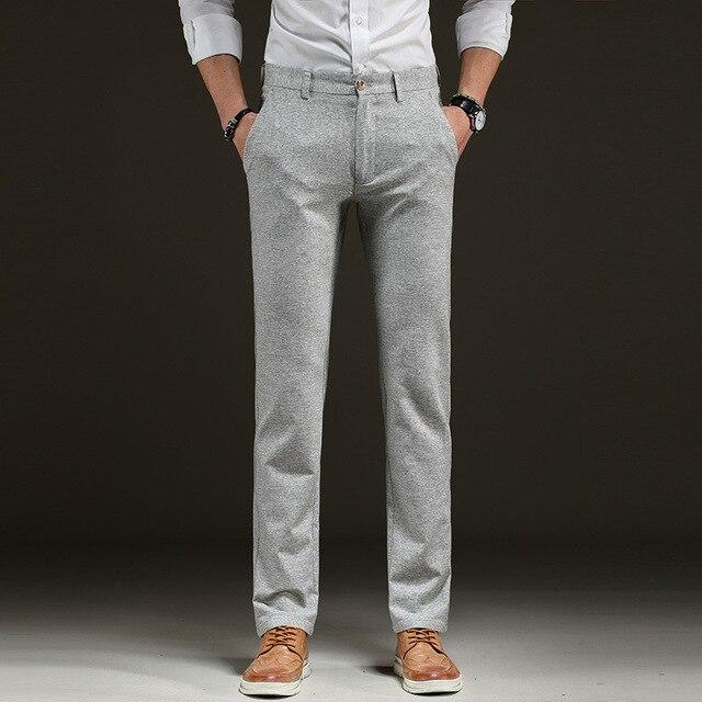 New high quality summer Men's Linen cotton Pants men Casual Stretch trousers Men's Clothing pants Size 28-38 1