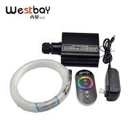 Westbay 16W RGB LED Optic Fiber Light 150pcs 0.75mm 2M Touch Remote Star Ceiling Kit Light End Glow Fiber Optic Light Decoration