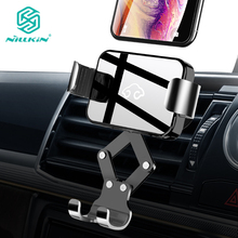 NILLKIN Gravity Car Phone Mount Hands Free Auto Lock One Hand Air Vent Cradle Auto Release For iPhone XS For Xiaomi for Samsung