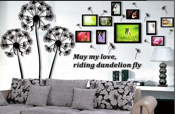 Dandelion Photo Frame 3d Crystal Acrylic Three Dimensional