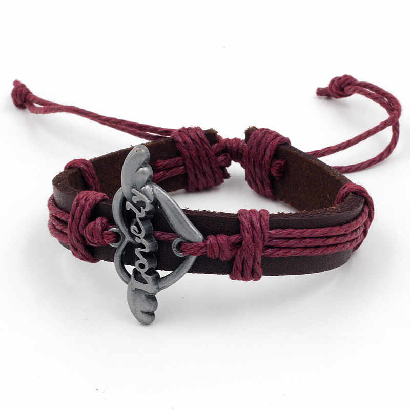 Wholesale Retro Braided Leather Bracelet Lovely Bracelet Couple Gift for Men and Woman