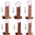 TPE extender кольцо пениса рукав расширение электрический эрекционные кольца с пулей вибратор реалистичная пениса игрушка секса для человека