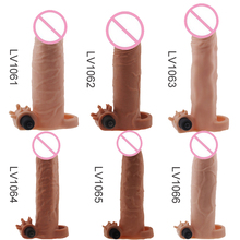 Penis ring sleeve enlargement electric cock rings with bullet vibrator