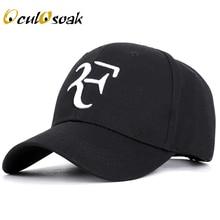 Roger Federer RF Men Baseball Caps Cotton casual hip-hop cap Adjustable sports hat 2019 New Fashion