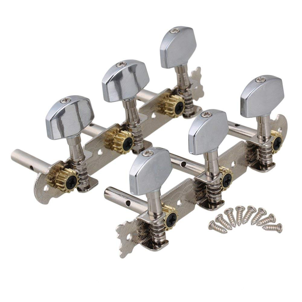 1R1L Guitar Tuning Pegs Tuner Machine Heads Chrome For Classical Guitar For  Guitar Tuning Pegs Tuner With Chrome Tip