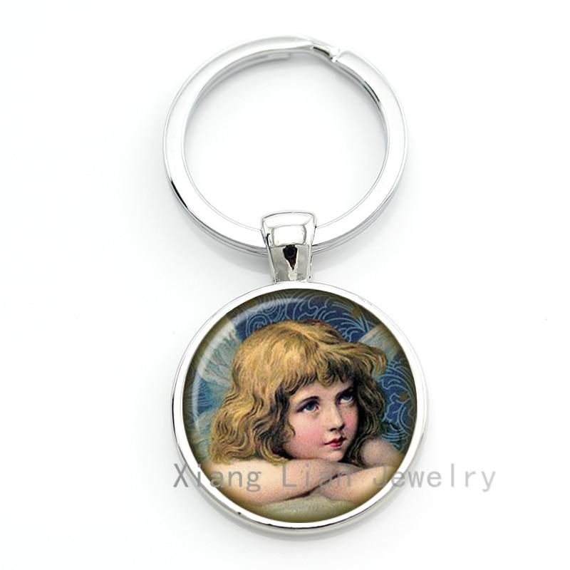 Vtorian милый Ангел брелок женщины девушки Ювелирные Изделия кольцо для ключей Рождество Новый Год ифнс Xmas Ангел брелок мода CM121