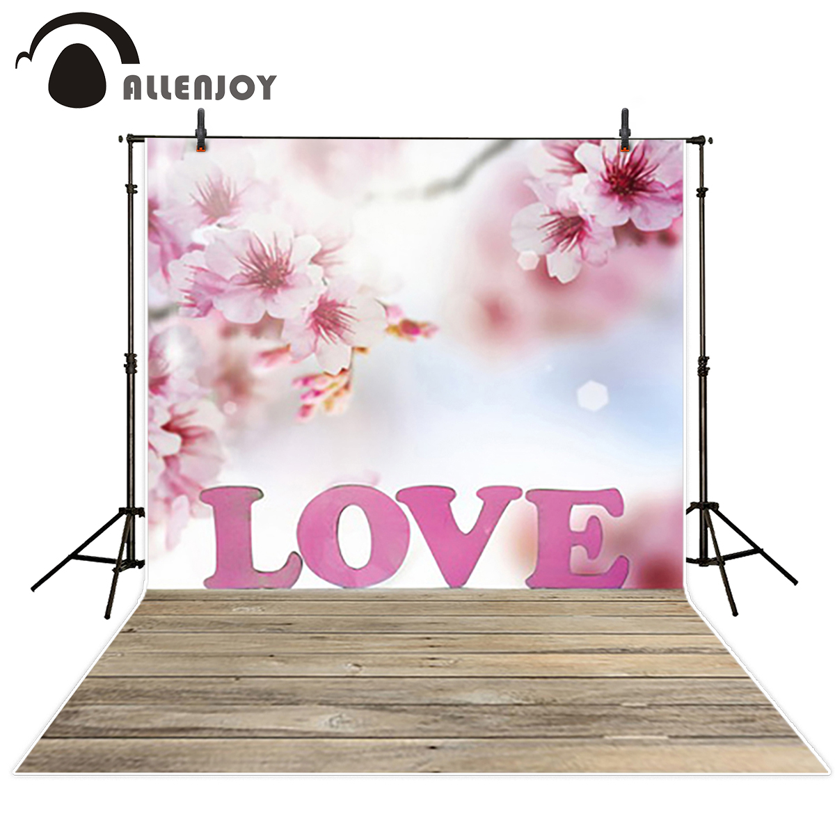 Allenjoy background for photographic studio Pink Peach blossom Romantic love Background for photo vinyl backdrop for photography 8x10ft valentine s day photography pink love heart shape adult portrait backdrop d 7324