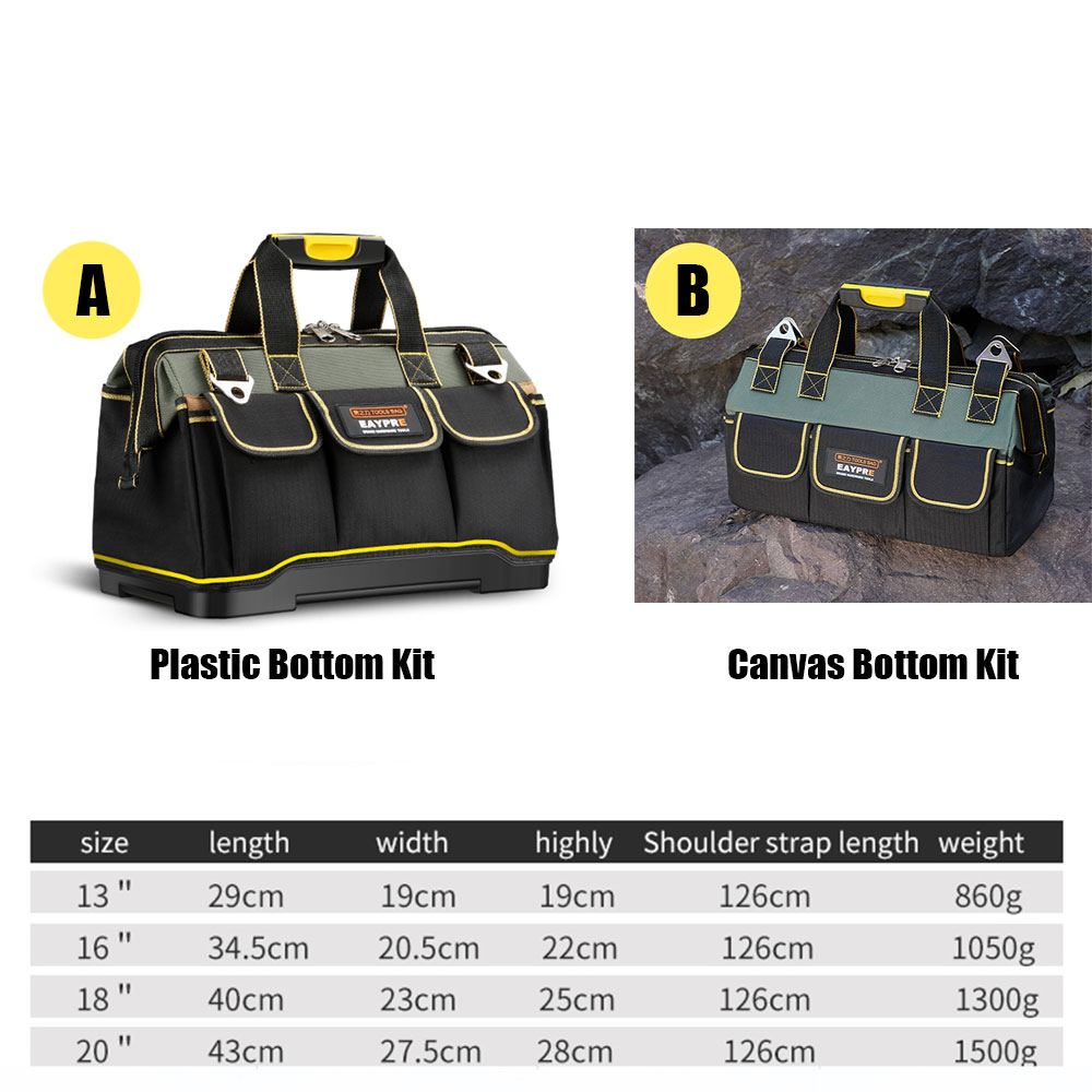 "Купить с кэшбэком 18"" Multi-function Canvas Electrician Bag Tools Waterproof Single Shoulder Handbag Repair Tool Bags Professional Portable 2019"