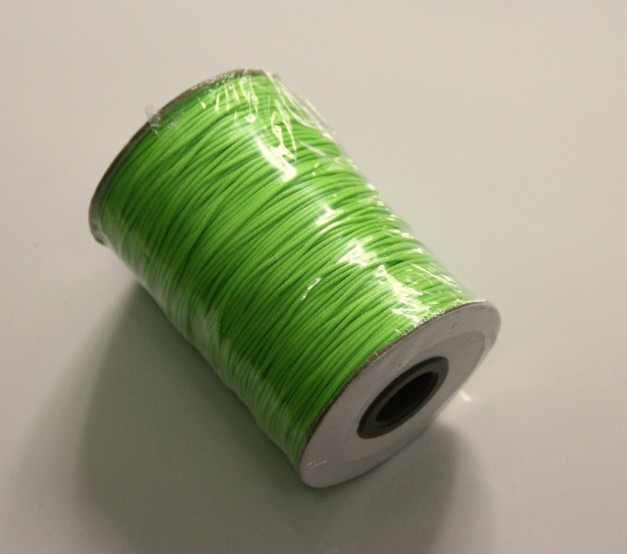 Free Shipping Neon Green 1mm 200YARD(180Meter) Jewelry Thread Waxed Cotton Cord Bead Cord Korea Cotton Wax Cord