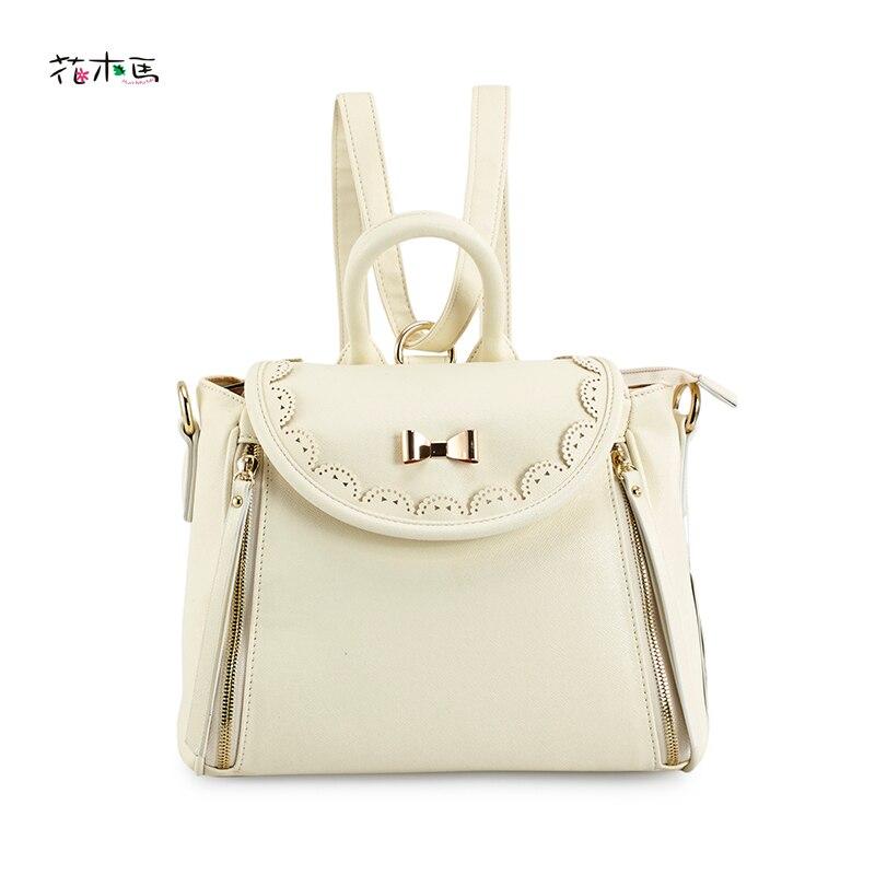 ФОТО Top quality Lady's hand bag PU leather women's backpack Girlhood Mini bag Female tote preppy style school bag