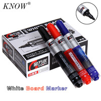 KNOW High Capacity Whiteboard Marker Set Pen 10 PCS Set 3 Colors Ink Whiteboard Pen Non