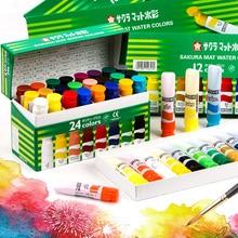 Sakura translucent watercolor paint 12 colors 15 colors 18 colors 24 color liquid tube painting illustration watercolor