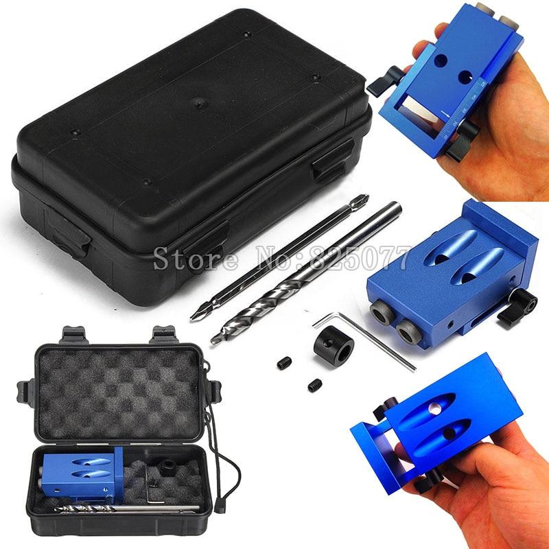 Mini Kreg Style Pocket Hole Jig Kit System For Woo...