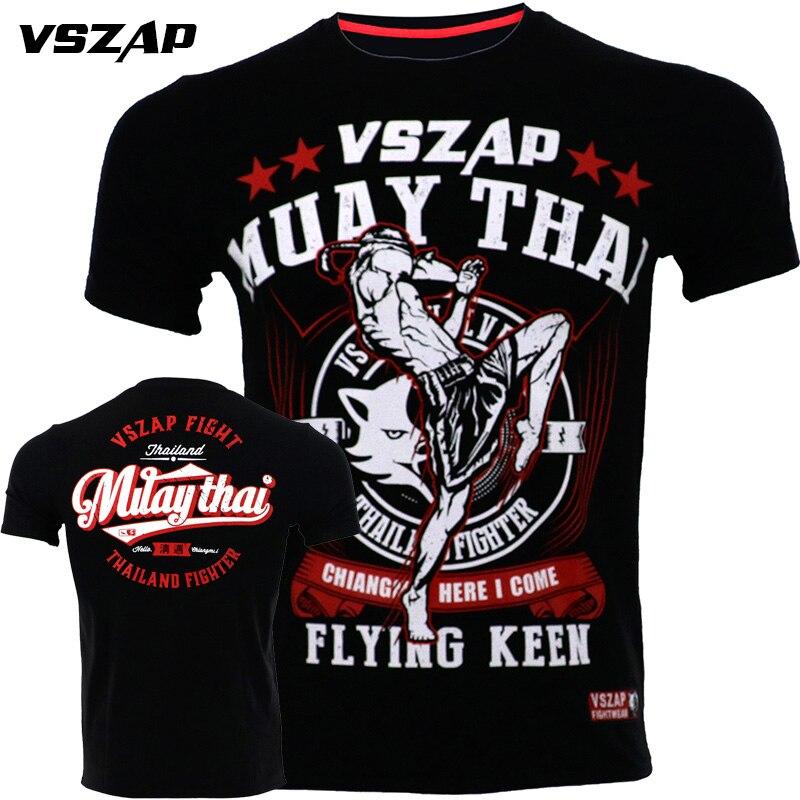 VSZAP Muay Thai Fighting Black MMA Tapout Bjj T-shirt Brand New Fighting Martial Arts Fitness Training Brazilian Jiu Jitsu Shirt