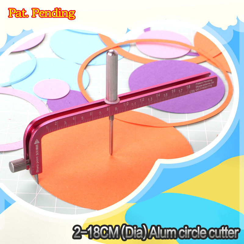 2-18CM(diameter) Aluminium Circle Cutter Paper Circle Cutter Crafting Circle Cutter