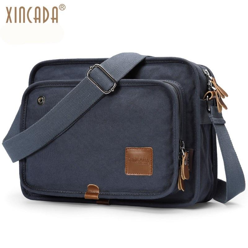 XINCADA Shoulder Bags Canvas Messenger Bag Cross Body Bags Business Work Briefcase Bookbag Daypacks for Men