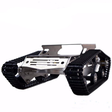 Robot Tank Car Metal Frame With DC Motor Caterpillar Crawler Chassis For DIY Robotic Model Robotics Experiment RC Toy Remote Kit rc tank chassis crawler intelligent barrowload remote control kit tractor obstacle caterpillar wall e infrared