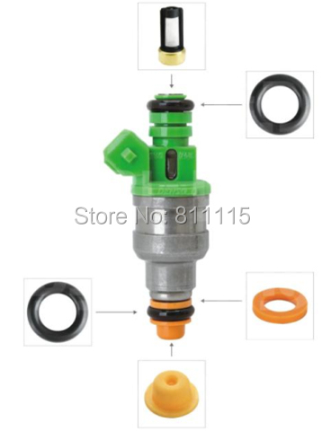 US $84 9 15% OFF|Aliexpress com : Buy Fuel Injector Repair Kits for  0280150558, 200 Sets, Viton O'rings (Injector O Rings), Rubber Seal,  Filter,