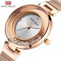 Montres pour femmes MINI FOCUS dames montre de luxe marque cristal imperméable à l'eau de mode maille ceinture horloge femme robe montres MF0254L|Montres femme| |  -