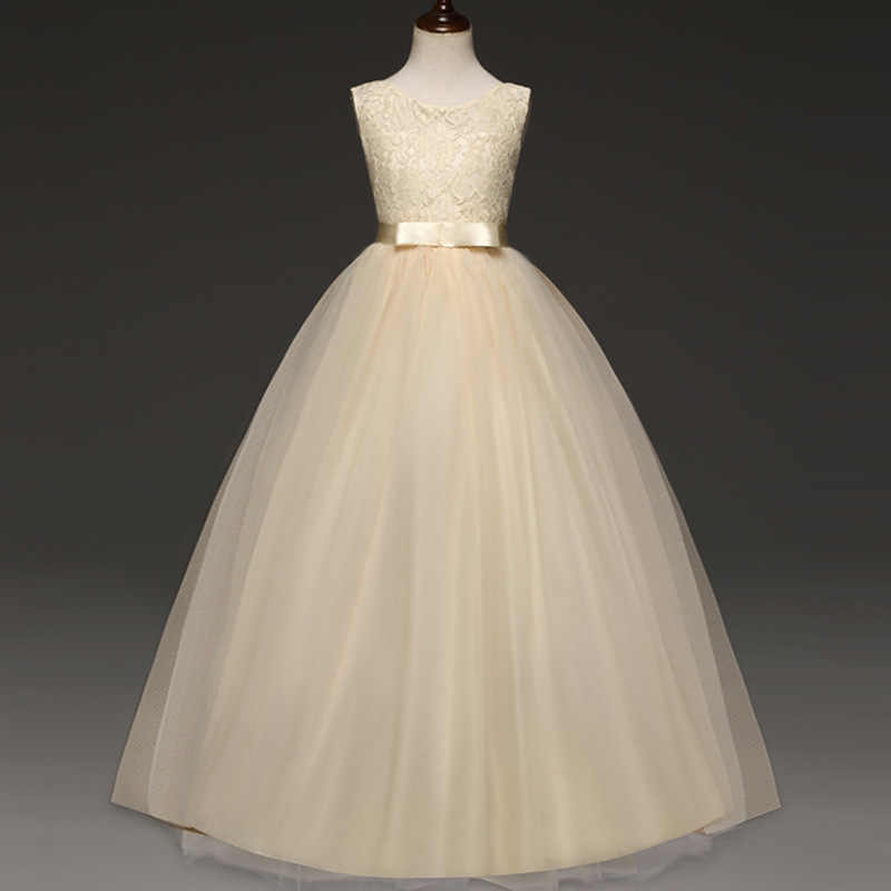 Vestidos De Encaje Para Niñas Ropa De Verano Ropa De Fiesta Vestido De Princesa Para Niños Vestido 5 6 8 9 12 14 Años Vestido De Cumpleaños