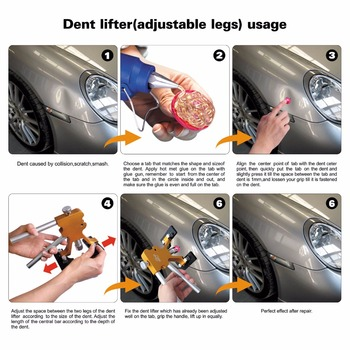 Ferramentas De PDR Paintless Dent Repair Tool Kit Ferramentas De Reparação De Automóveis Dent Extrator Lifter Aspira Copos Para Remover Mossas Granizo Danos